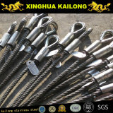 Corde galvanisée -7*7-1.2mm 1960mpa de fil d'acier