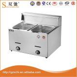 Machine électrique de pommes chips de friteuse de matériel commercial de cuisine