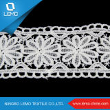 Lemo vend le lacet blanc d'extension, broderie de tissu de lacet
