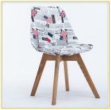 Garden Leisure Chairs with Cream Fabric Cover and Wooden Legs
