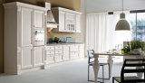 Gabinete de cozinha elevado do revestimento do lustro da porta da madeira compensada