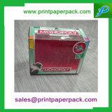 Bespoke бумажная коробка подарка с ясным окном PVC