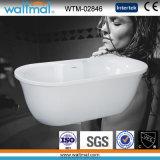 Alta bañera libre diseñada única de Qualtiy (WTM-02846)