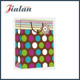 Лоснистая прокатанная бумага искусствоа ставит точки & Stripes мешок подарка покупкы бумажный