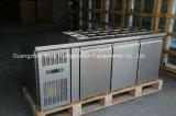 Réfrigérateur commercial d'Undercounter d'acier inoxydable de 3 portes avec du ce
