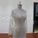 Qualidade excelente A - linha vestidos nupciais das luvas longas