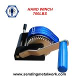 2000kg Hand Winch Strap / Webbing / Rope 3speed- Boat Car Marine Trailer