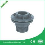 O PVC que reduz o acoplamento do soquete, tubulação do PVC reduz o soquete, PVC que reduz o soquete