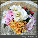 Corona variopinta decorativa del fiore artificiale della natura del giardino