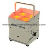 Luz conducida sin hilos 4X8w RGBW 4 in-1 de la batería