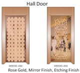 Ascenseur résidentiel de luxe de passager de mémoire d'achats à la maison d'or de Rose