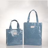 Dos tallas impermeabilizan los bolsos de compras internos de la PU del bolsillo de la cremallera (2293-1)