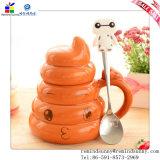 Two di ceramica Mug Set Advertizing Coffee Cup con Handle e Spoon