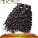 異なった質の自然で黒い人間の毛髪のヨーロッパのバージンの毛の拡張