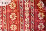 Tela delicada roja 100% del telar jacquar del Chenille del poliester para África sobre todo