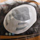 モノラルレースPUの上塗を施してある人間の毛髪の人の毛システム、Toupee