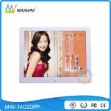 Квадратное видеоий LCD петли рамка фотоего 14 цифров дюйма с заряжателем