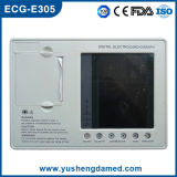 Electrocardiógrafo ECG (ECG-E305) del canal de Digitaces tres