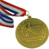 Medaglia pattinante personalizzata di sport del metallo con il nastro (XD-03027)