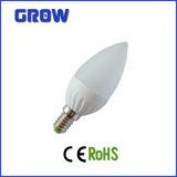 Plastic&Aluminum PC 덮개 E27/E14 SMD LED 초 빛