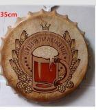 Segno domestico elegante di figura della bottiglia da birra dell'annata della barra della decorazione misera