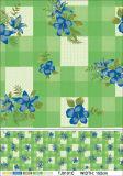 Het vierkante Tafelkleed van het Patroon van de Vorm pvc Afgedrukte met Achtereind