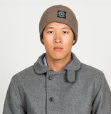 2016 lãs ocasionais espertas e chapéu acrílico do Beanie com logotipo da impressão da tela