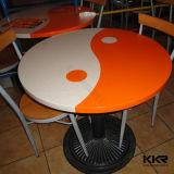 اصطناعيّة رخاميّة مستديرة يتعشّى طاولة رخاميّة لأنّ مطعم