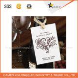 Étiquette faite sur commande chaude de bouteille de vin d'OEM de marque de bride de grand dos de qualité supérieur