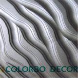 Painéis de parede Eco-Friendly da onda do MDF 3D