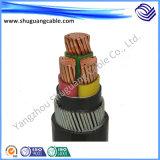 Cable suave flexible de la corriente eléctrica del conductor XLPE del aislamiento de la envoltura de cobre del PVC