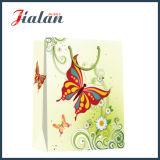 Мешок подарка бабочки бумаги цвета слоновой кости способа & несущей цветков бумажный