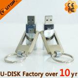 주문 Laser 조각 로고 강선전도 금속 USB 플래시 메모리 (YT-1209)