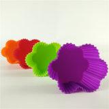 Moulage de gâteau de silicones de forme de fleur