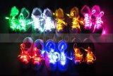 Éclairage LED vers le haut des lacets de chaussure en nylon de laçage élastique instantané de lueur