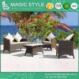 Do sofá ajustado de vime ao ar livre do Rattan de Foshan do sofá do Rattan da mobília da mobília do pátio jogo quente do sofá da promoção de venda (estilo mágico)