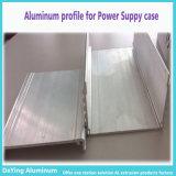 Protuberancia de aluminio/de aluminio del perfil para el caso de la fuente de alimentación