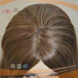 Парик Silk верхних женщин светлых волос еврейский Kosher