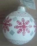 La sfera di vetro dell'ornamento ha modellato per la decorazione della casa di natale