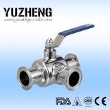 Fornitore a tre vie sanitario della valvola a sfera di Yuzheng