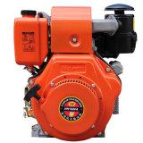 Het luchtgekoelde Elektrische Begin van de Kleur van het Leger van de Luxe van de Dieselmotor Groene (HR188FAE)