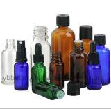 Frasco de vidro 5ml 10ml 15ml 20ml 30ml 50ml 100ml do conta-gotas europeu azul/petróleo essencial
