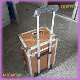 Chariot professionnel en aluminium à cas de beauté de structure intense (SATCMC023)