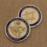 Souvenirのための2015習慣Challenge Coin Metal Masonic Coins