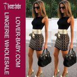 Preiswertes heißes reizvolles Clubwear Minikleid (L27898-2)