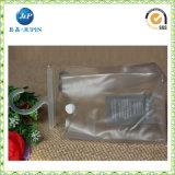 卸売によってカスタマイズされるロゴは印刷する透過PVCパッキング袋(JPplastic040)を