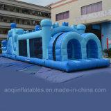 Inflatale blauer Hindernis-Kurs (AQ14144)