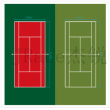 Matériau mou de surface de court de tennis de SPU d'Itf (JRace CD002)