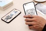 el teléfono móvil de la cebra del elefante del perro 3D encajona la caja animal de TPU con el sostenedor del anillo para el iPhone 6 6s más