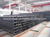 Tubo d'acciaio quadrato nero o galvanizzato di uso della costruzione